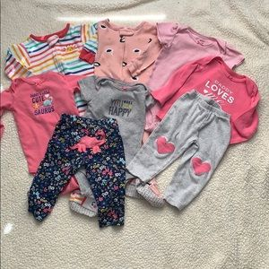 Carters baby girl bundle